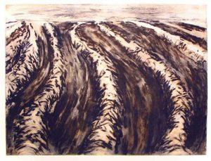 August, 2006, carborundum print, 56 x 76 cm