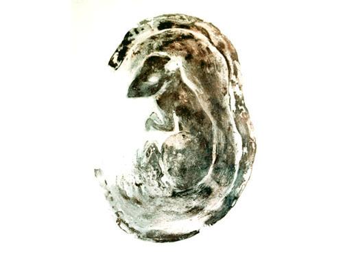 Binnen II, 2002, edition, carborundum print, 56 x 76 cm