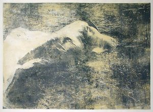 Dream vision, 1998, transfer print, acryl on rice paper mounted on canvas, 122 x 89 cm