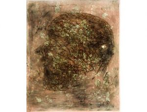 Hoofd, 2000, monoprint, drypoint, 77 x 106 cm