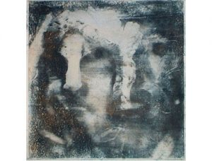 Janus head, 2005, transfer print, 55,5 x 76 cm