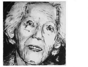 Lilly V, 2006, carborundum print, 56 x 76 cm