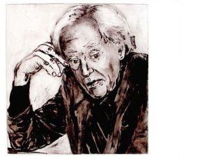 J.J. Peereboom I (melancholia), carborundum print, 56 x 76 cm