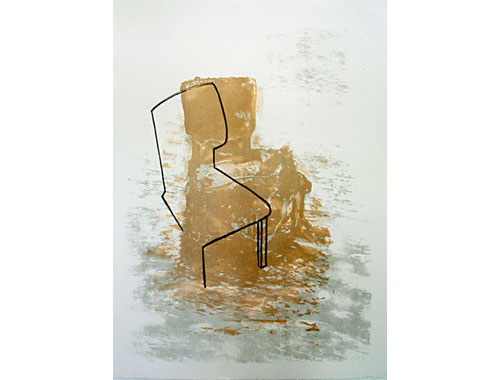 Stoel II, 1999, edition, litho and silkscreen, 75 x 104 cm