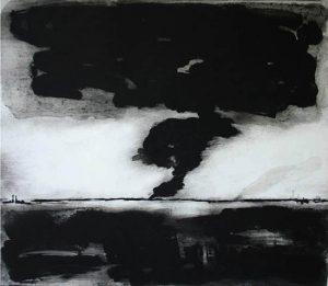 Cataclysm, 2001, carborundum print, edition, 83 x 73 cm