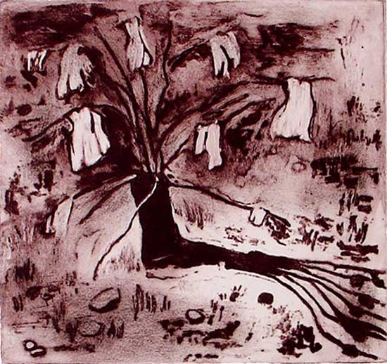 Dream Tree, 2010, carborundum print, edition, 38 x 40 cm
