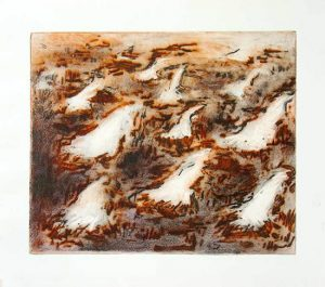 Fire Nests, carborundum print, edition, 2010