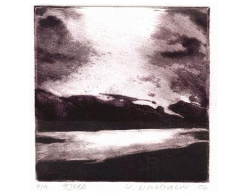 Fjord, 2006, edition, carborundum print, 25 x 33 cm