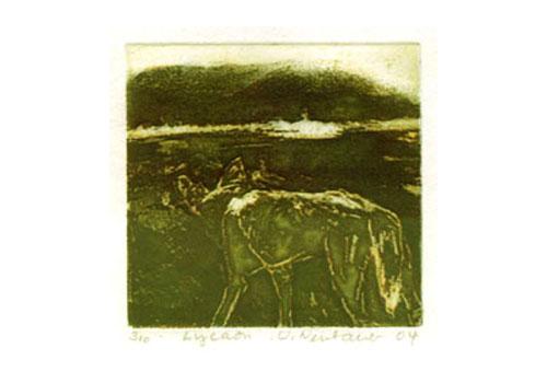 Lycaon, edition, etching, 20 x 20 cm