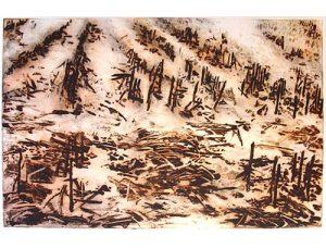 Remainders, 2006, carborundum print, 99,5 x 70 cm