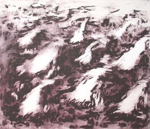 Rising Spirits, 2010, carborundum print, edition, 38 x 40 cm