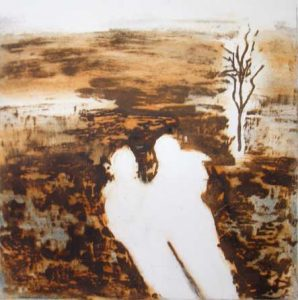Scorched Plain, 2010, carborundum print, edition, 38 x 40 cm