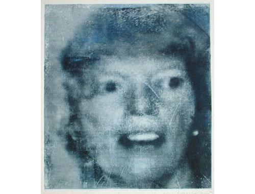 History I (Medea), 2005, transfer print, chalk, 56 x 64,5 cm