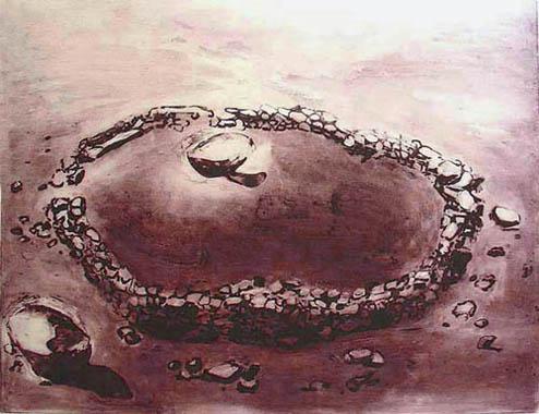 Stone Dial, 2006, edition, carborundum print, 99,5 x 79,5 cm