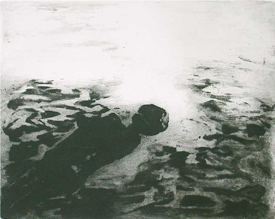 To sink into bottomless, 2010, carborundum print, edition, 50 x 65 cm