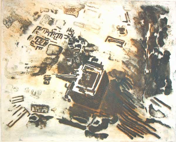 Uruk, 2010, carborundum print, edition variée, 60 x 50 cm