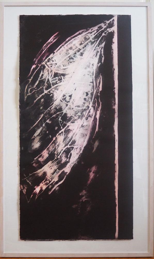 Vleugel, 2015, carborundum print, 100 x 60 cm