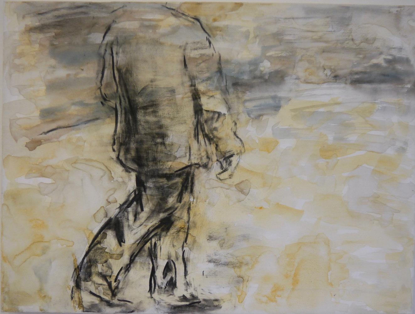 Wanderer, 2015, mixed media on canvas, 80 x 60 cm