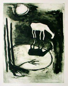 Witte Geit, 2010, carborundum print, edition, 50 x 65 cm